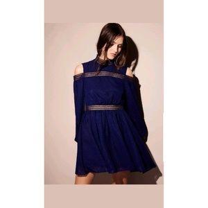 New Free People Aslan Cold Shoulder Mini Dress